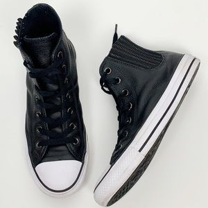 Converse Chuck Taylor Chelsee Black Leather Hi-Top